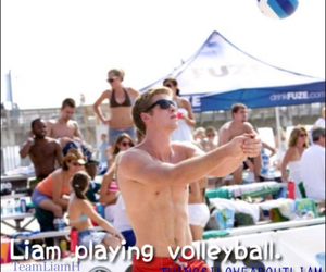 volleyball, liam hemsworth, and things i love about liam image