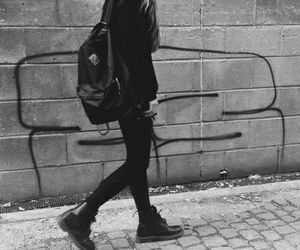 black, grunge, and black and white image