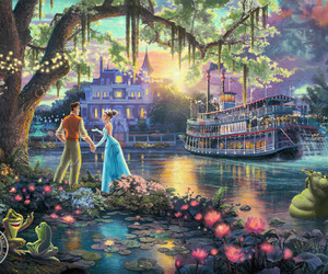 art, lady, and princess and the frog image
