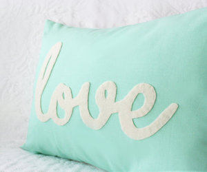 love, pillow, and mint image