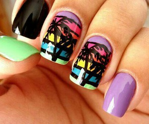 cool, nails, and summer image