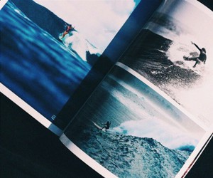 blue, surf, and book image