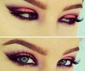eye makeup, makeup, and eyes image
