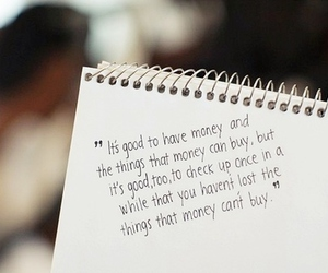 money, quote, and text image