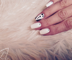 black and white, nails, and nice image