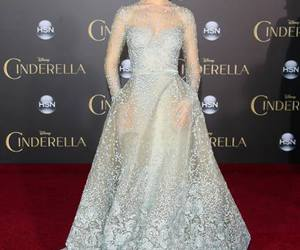dress, lily james, and cinderella image