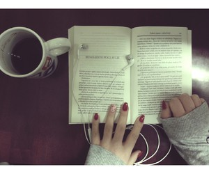 books, coffee, and music image