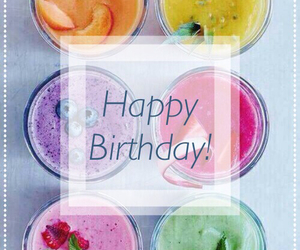 colors, fruit, and happy birthday image