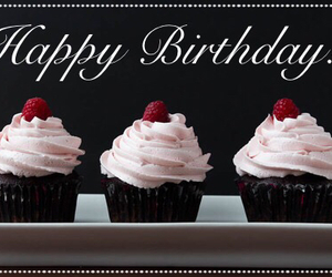 colors, cupcake, and happy birthday image