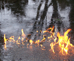 fire, water, and rain image