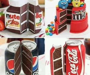Pepsi, cake, and nutella image