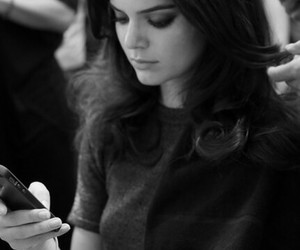 kendall jenner, model, and black and white image