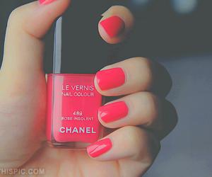 beautiful, nail, and pink image