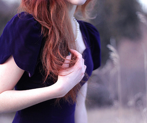 girl, dress, and redhead image