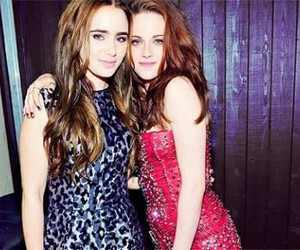 lily collins and kristen stewart image