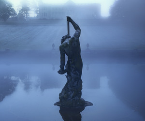 beneath, misty, and statue image