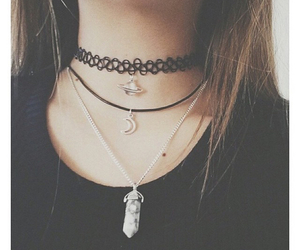 black, necklace, and grunge image