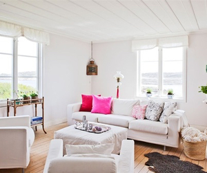 interior, living room, and pink image