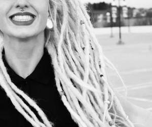 dreads, piercing, and smile image