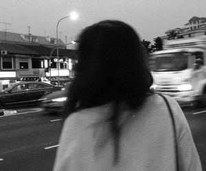grunge, black, and white image