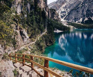 mountains, landscape, and lake image