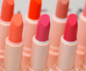 lipstick, makeup, and pink image