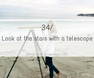 stars, telescope, and beach image