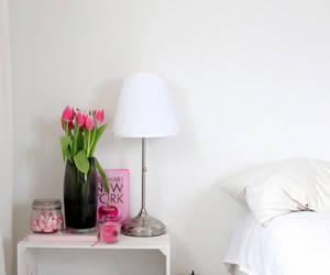 flowers, room, and tulips image