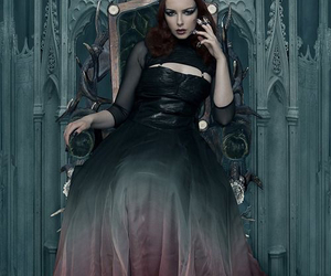 Queen, throne, and dark image