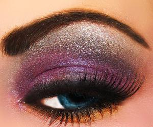 make up, makeup, and eye image
