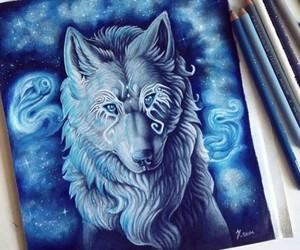 wolf, art, and beautiful image