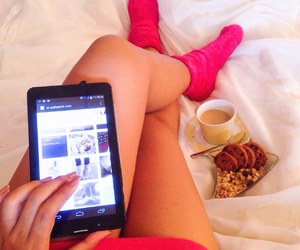 coffee, pink, and relax image