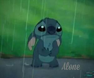 adorable, alone, and rain image