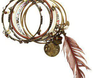 bracelet, fashion, and brown image