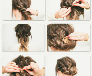 beauty, tutorial, and coiffure image
