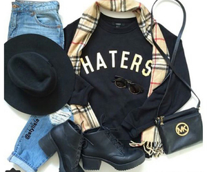 blue jeans, haters, and hipster image