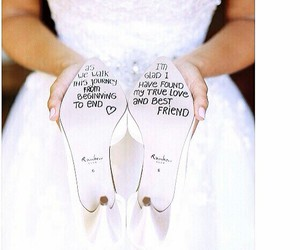wedding, shoes, and dress image