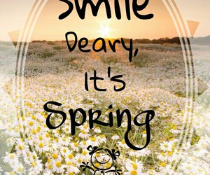 flower, smile, and spring image