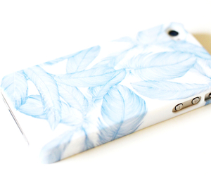 iphone, blue, and white image