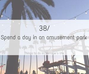 amusement park and life image