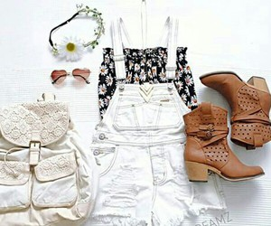 fashion, backpack, and outfit image