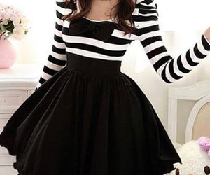 dress, black, and white image