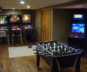 decorating room ideas, basement game room ideas, and game room decor image