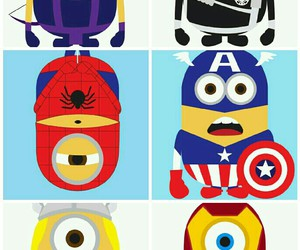heroes, Marvel, and minions image