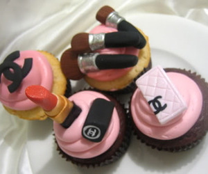 cupcake, chanel, and makeup image