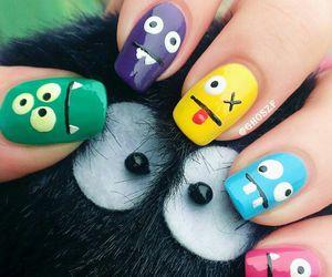 nails, monster, and nail art image
