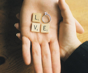love, ring, and couple image
