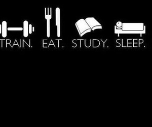 eat, sleep, and study image