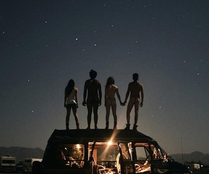 friends, night, and stars image