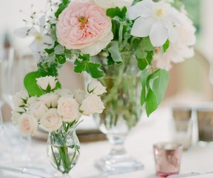 beautiful, bridal, and centerpieces image